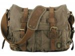Serbags Canvas Military Messenger Bag