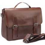 Front View of Zebella PU Leather Briefcase Messenger Bag